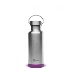 Plastic Free Insulated Steel Bottle - Brushed Steel - 500ml