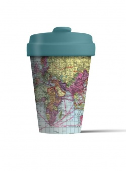 Bamboo Coffee Cup with Bamboo Lid - Around the World