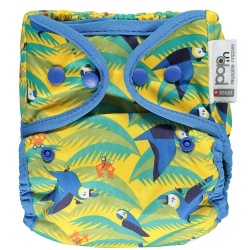 Pop In Reusable Popper Nappy and Bamboo - Parrot