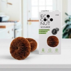 EcoCoconut Coconut Fibre Scourers - Pack of 2
