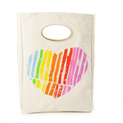 Fluf Organic Lunch Bag - I Heart You