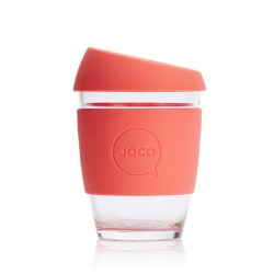 JOCO Cup Reusable Glass Coffee Cup 12oz - Persimmon
