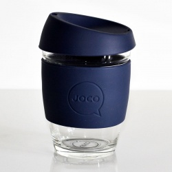 JOCO Cup Reusable Glass Coffee Cup 16oz - Mood Indigo