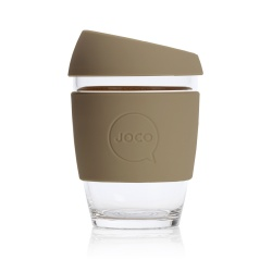 JOCO Cup Reusable Glass Coffee Cup 12oz - Olive