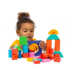 Coloured - 38 Building Blocks + Bag