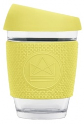 Reusable Glass Coffee Cup - Neon Kactus