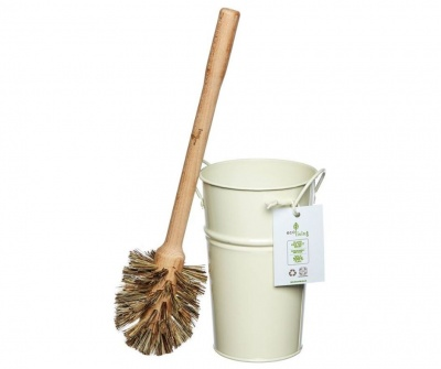 Plastic Free Toilet Brush & Holder Set with Large Brush