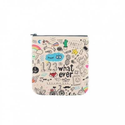 Organic Cotton Zipper Pouch - Whatever